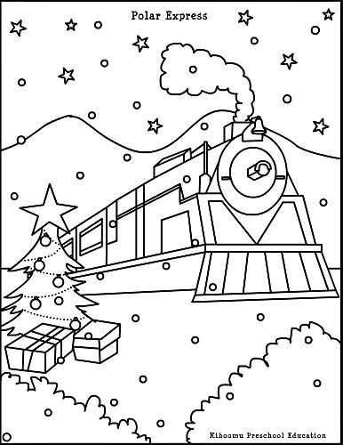 "Free Coloring Pages Pictures ""Polar Train Express"""