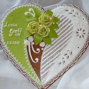 Hand decorated gingerbread cookies wedding / Svadobné ručne zdobené medovníčky / Biscotti Pan Di Zenzero Tradizionali fatti a mano per Matrimonio