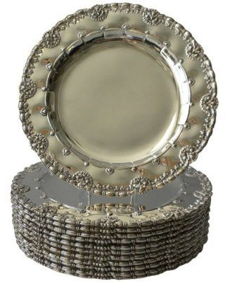 Tiffany's sterling silver dinner plates, 1900