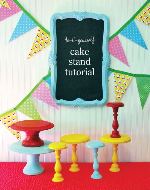 DIY wooden cake stands