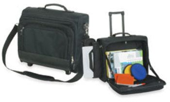 Premium Rolling Laptop Case -Black Case Pack 3