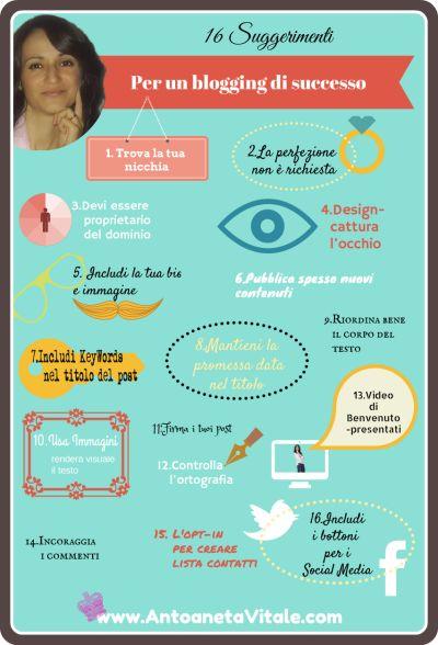 I Miei 16 Suggerimenti Per Un Blogging Di Successo #blogging #iloveblogging #ontheblog #blog #personalbranding http://antoanetavitale.com