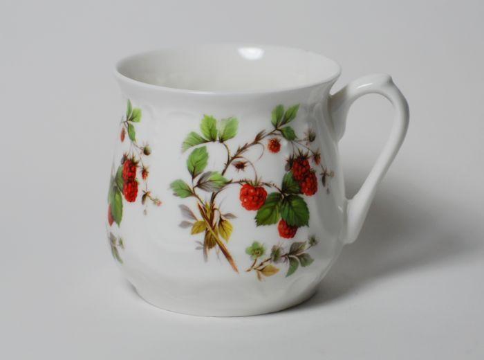 Kubek śląski dekoracja maliny (duży) - Porcelana Ćmielów