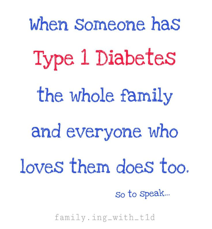 #Type1Diabetes IT IS A FAMILY THING. When someone in a family has T1 it is like everyone in the family has it too. It  has an impact on each and every person in a family unit - no one's life is left untouched by this disease, and we all have our part to play.