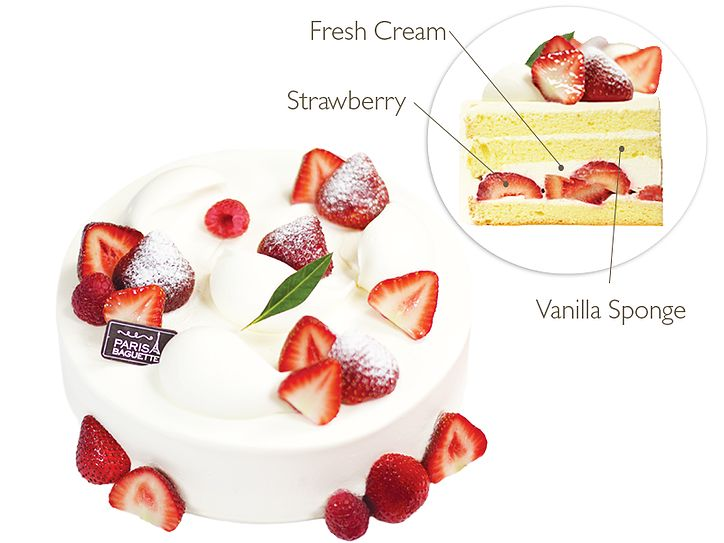Paris Baguette Bakery Café | Strawberry Fresh Cream