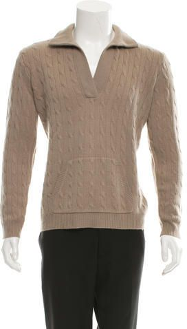 Ralph Lauren Black Label Cashmere Cable-Knit Sweater w/ Tags