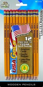 USA Gold pencils from California! School supplies Made in the USA