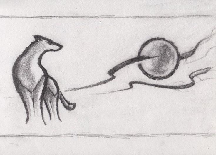 Best 25+ Simple wolf drawing ideas on Pinterest | Spirit animal ...