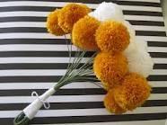 pom pom flowers - Google Search