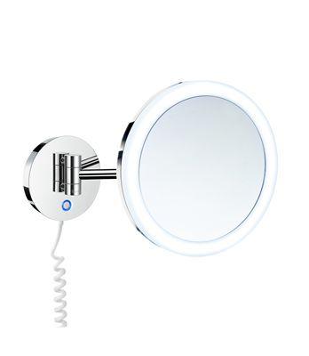 Sminkspegel med belysning i krom