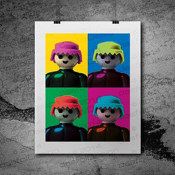 Instant Download Printable  Pop Art Playmobil by dasfolDesign