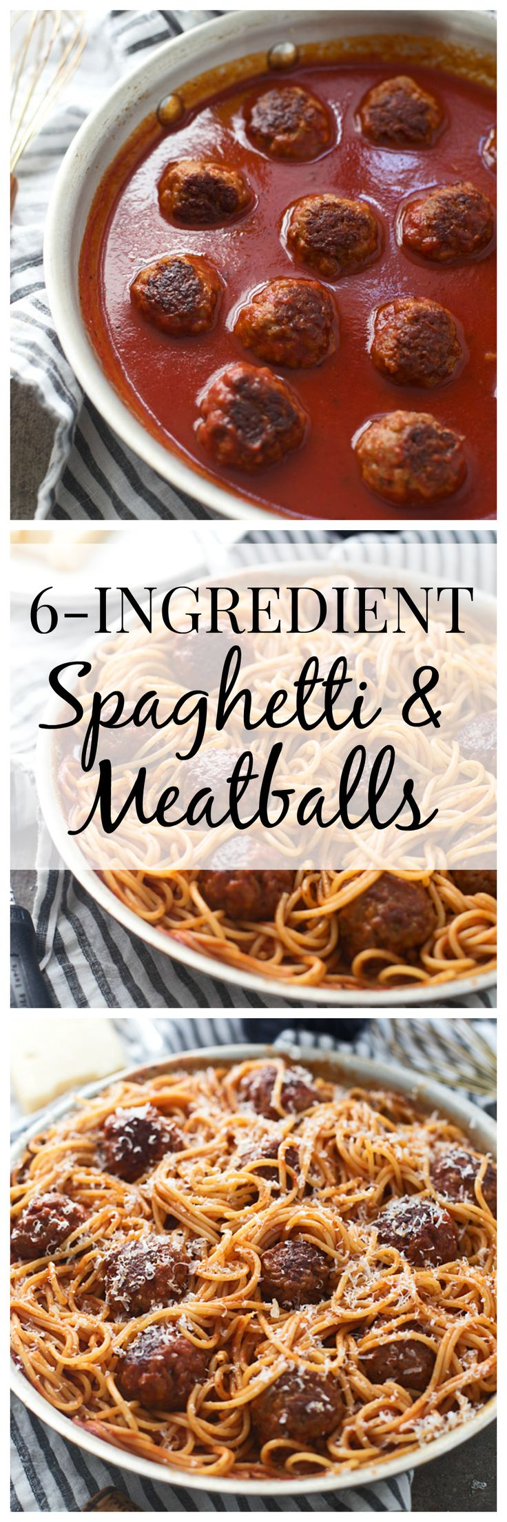 Six Ingredient Spaghetti & Meatballs - This is easy and quick to throw together, but has every bit as much flavor as the original!