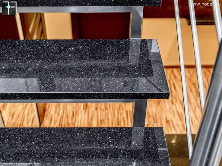 Schody kamienne realizacja - minimalistyczne schody #kamień #granit #wnętrza #interior #design