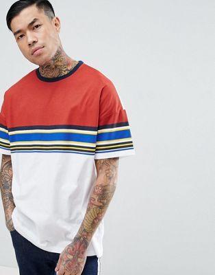 ASOS Oversized T-Shirt With Retro Stripe Yoke