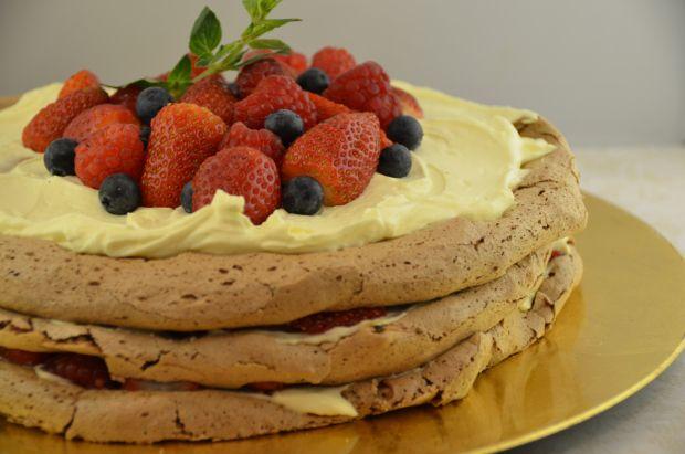 Torta Merengue de chocolate / Chocolate meringe layer cake