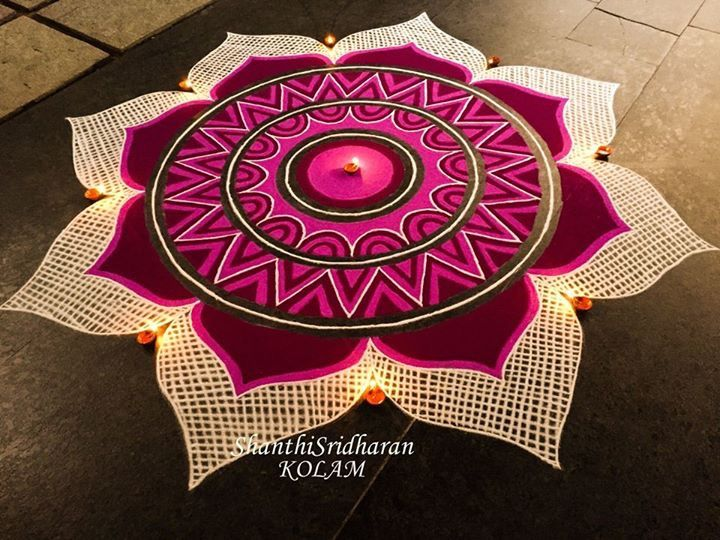 #mandala#kolam#pink