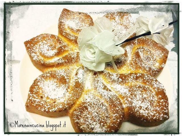 la Torta fiore alle albicocche secche di Morena di Morena in Cucina