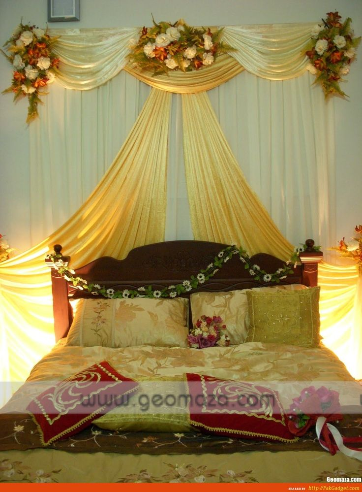 18 best romantic bedroom ideas for wedding night images on for Wedding bedroom decoration ideas