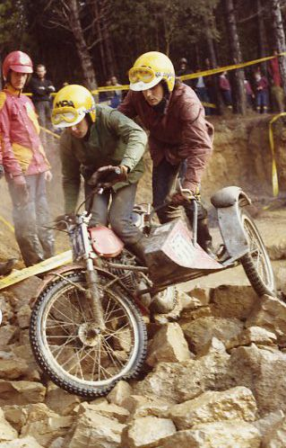 3 Days Trial of Cingles de Berti. 1982. Bultaco Sherpa + artisanal Side.