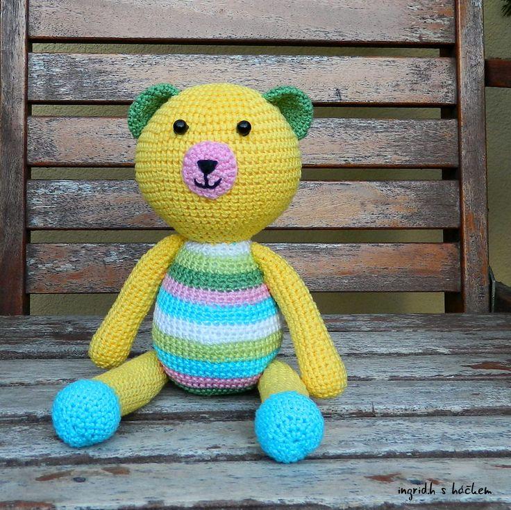crochet . můj medvídek Daffy. hand made original ingrid.h