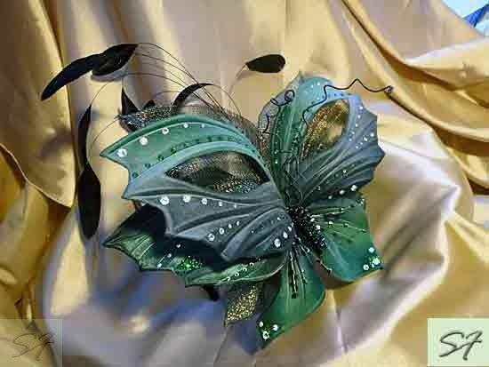 Ободок с бархатной бабочкой для украшения прически, арт. sv362