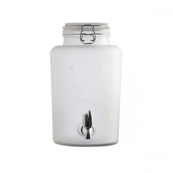 KILNER  frosted nádoba na limonádu bílá 5l