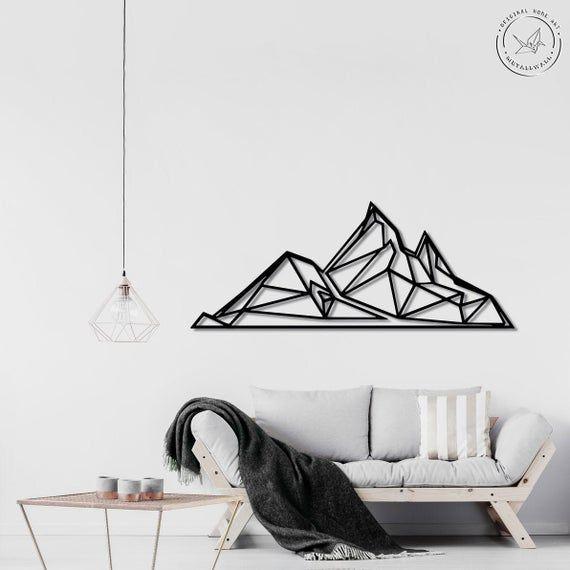 49++ Geometric mountain wall art ideas