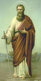 St. Paul - The Apostle of the Gentiles who was a deep religious thinker as shown through his 14 Epistles.  Feast Day shared with St. Peter on June 29.