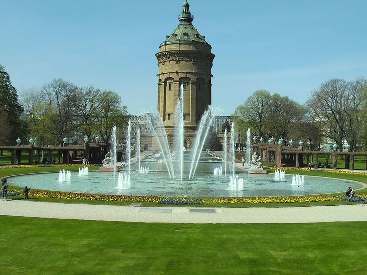 Wahrzeichen von Mannheim. Der Wasserturm