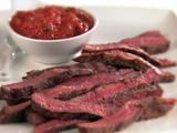 For the next time I want to surprise my boyfriend with a manly meal - rib-eye steaks w smoked arrabiata sauce.
