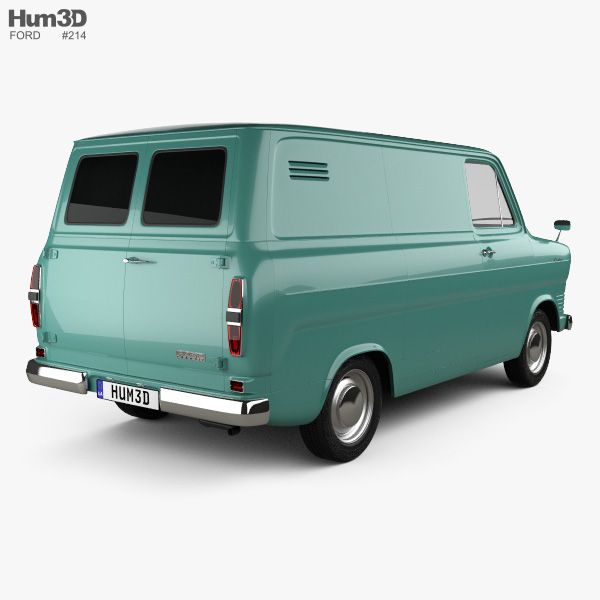 3d Model Of Ford Transit Panel Van 1965