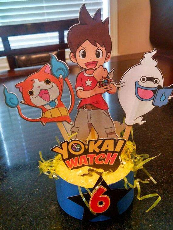 Yokai watch pick centerpiece yo kai watch birthday party for Do it yourself centerpieces for birthday