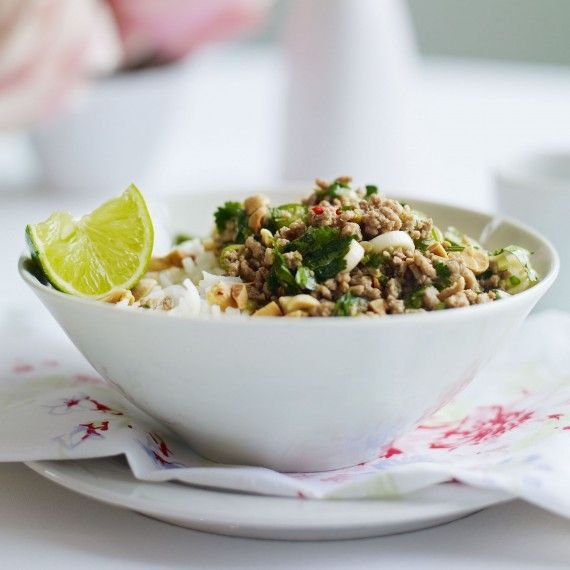 Thai pork mince with jasmine rice recipe - Woman And Home
