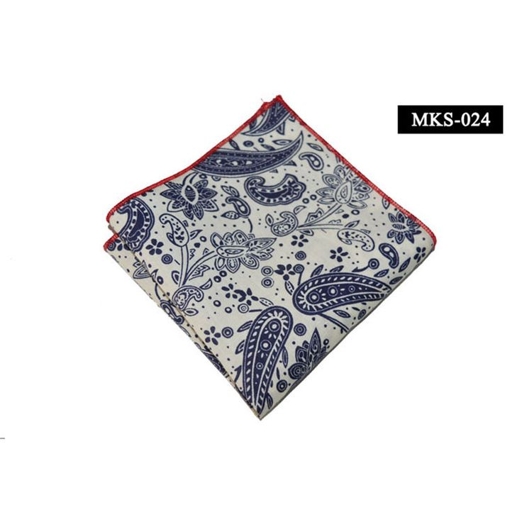 Mens Silk Pocket Square - Santa Silk Square by VIDA VIDA RfrODO