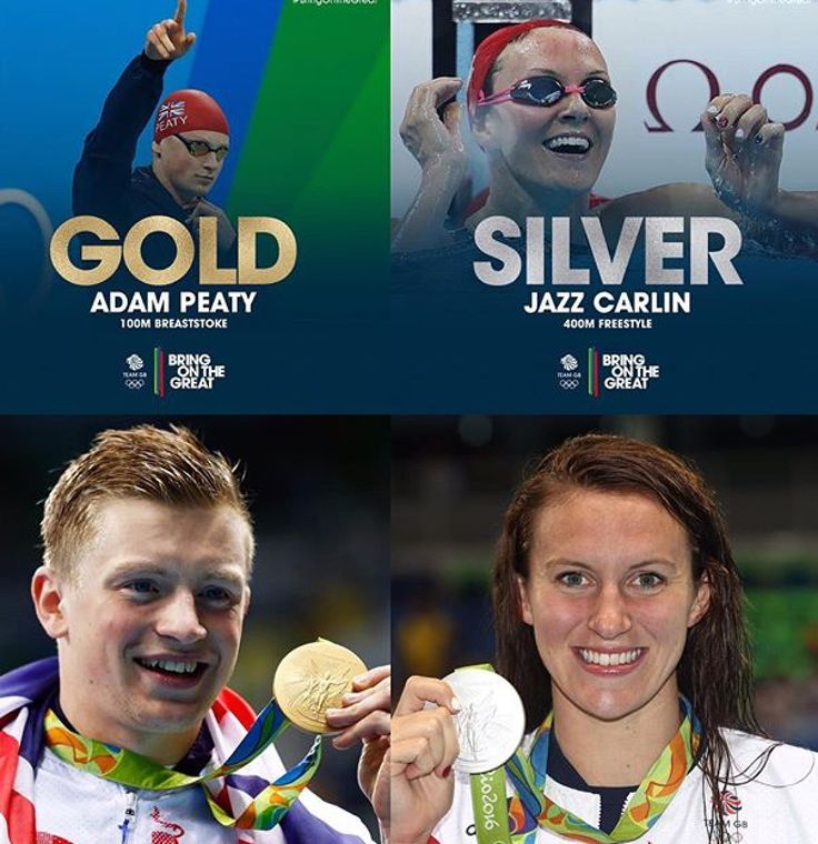 Adam Peaty & Jazz Carlin #TeamGB #Rio2016 #Olympics #WorldRecord