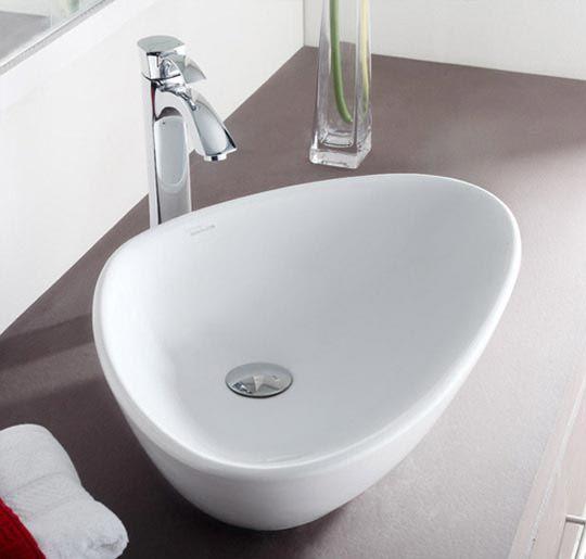 Buy Hindware Wave Table Top Basin 59x39 cm-91042 in Washbasins through online at NirmanKart.com