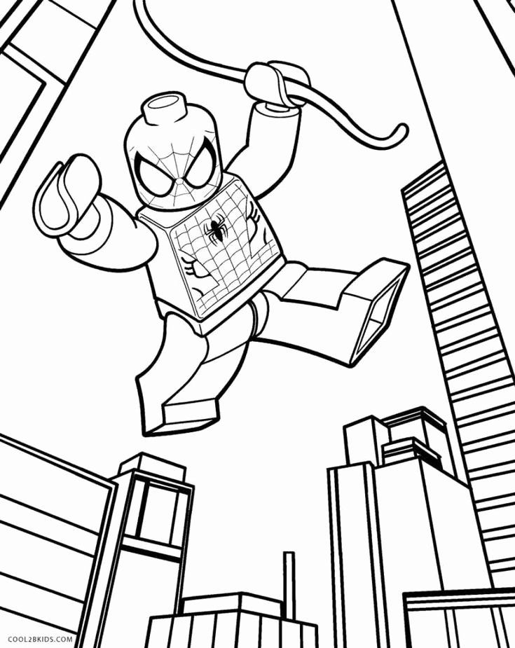 Lego Spiderman Coloring Page Beautiful Lego Spiderman Coloring Pages In 2020 Superhero Coloring Pages Lego Coloring Pages Lego Movie Coloring Pages