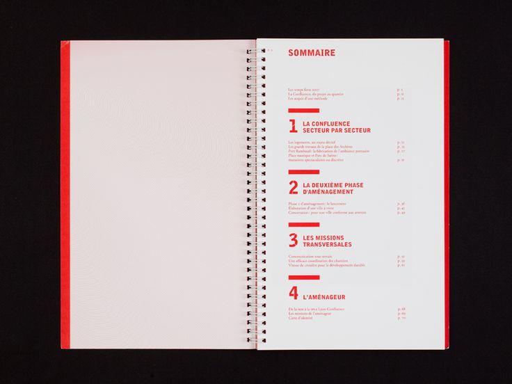 Lyon Confluence, communication - Bureau 205 - pages de sommaire -