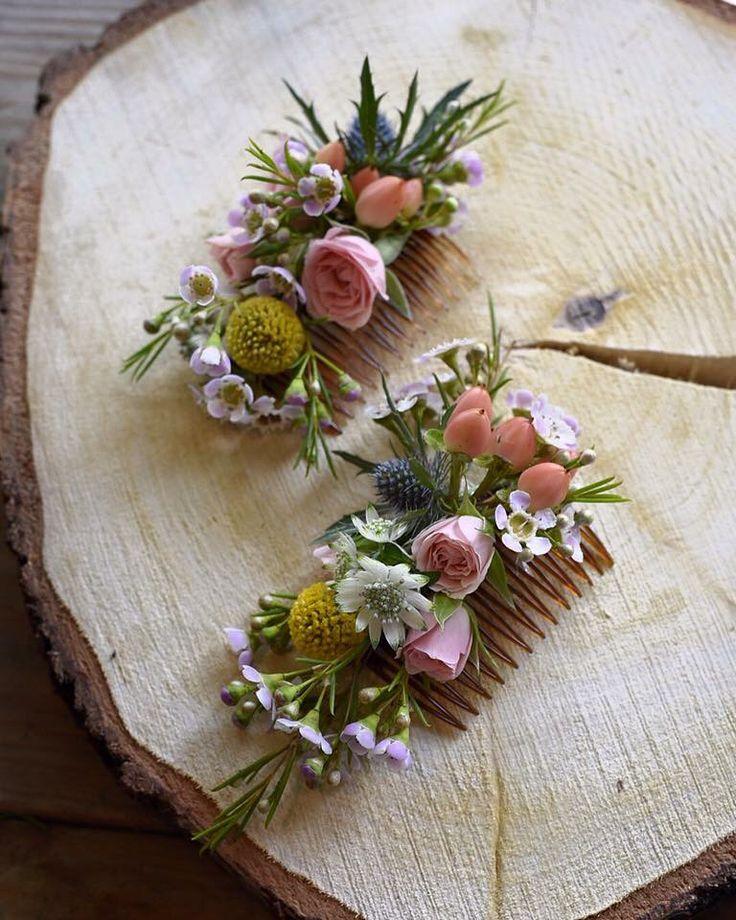 Mariage champêtre I Bohème Chic Barrettes de fleurs Fleurs by Avril Mai