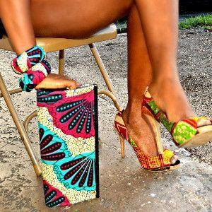 Multicolor Designer Ankara African Print Formal Clutch