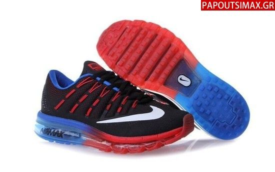 Nike Airmax 2016 Flyknit Black Royal Red