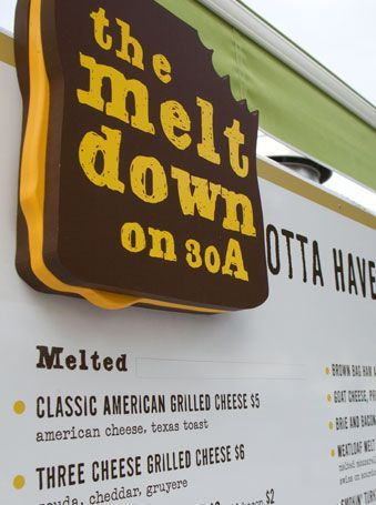 The melt down on 30A! Amazing grilled cheese sandwiches! Seaside, Florida.