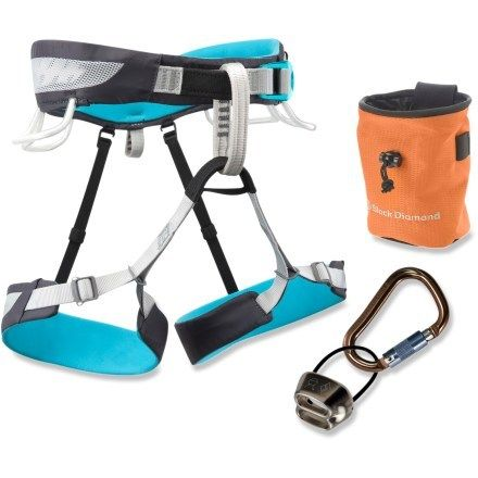 Black Diamond Primrose SA Climbing Harness Package - Women's - Free Shipping at REI.com  ---  A great deal to get all the gear at once! These will be great for indoor rock climbing all winter long!