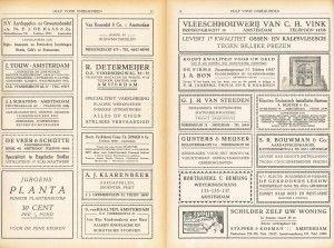 On de kosten te drukken ziet HvO zich in 1924 gedwongen commerciële advertenties in het tijdschrift op te nemen.