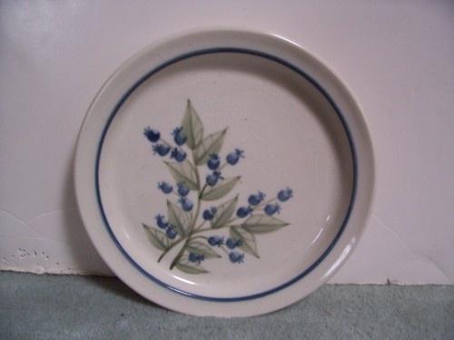 Mint Maine Union Stoneware Pottery Blueberry Pattern 7