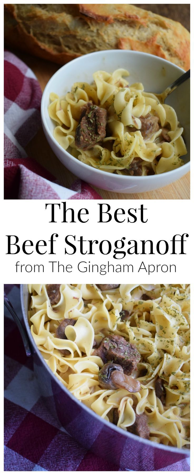 The BEST Beef Stronganoff! The Dijon mustard and dill makes this delicious pasta dish over the top!