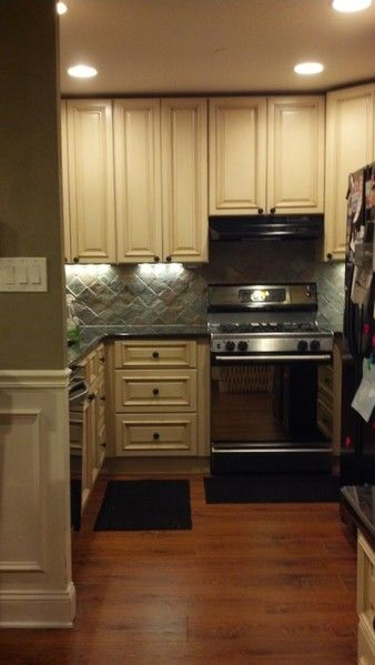 Completed Tuscany Kitchen With Hardwood Floors