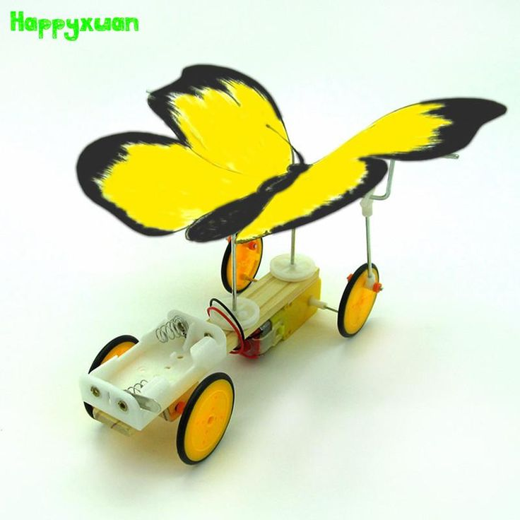 Happyxuan Diy Science Toys Electric Butterfly Model Material Primary School Students Creative Assembly Kits Kids Early Education