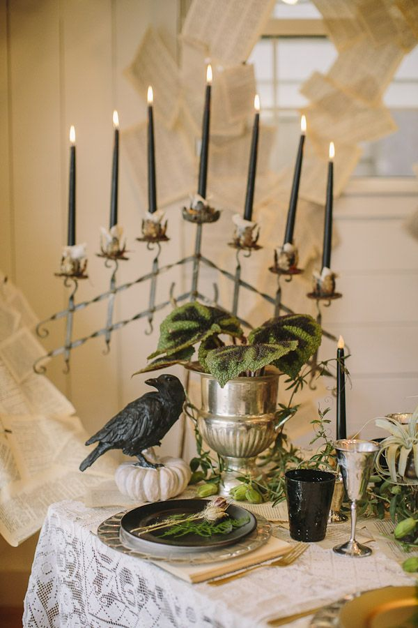 VICTORIAN WEDDING THEMES | Victorian Halloween Wedding Ideas from Danielle Capito Ruffled