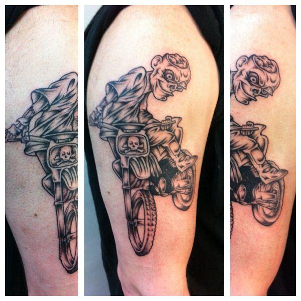 Dirt bike tattoo